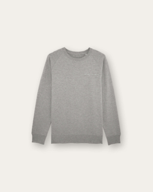 Sweat Gris Coton Bio LUAP